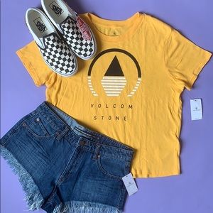 Volcom Yellow Little Brah Tee
